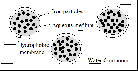 Emulsified Zero Valent Iron Droplets Graphic